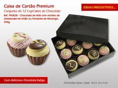 Chocolate em forma de Cupcake :) #CupCake