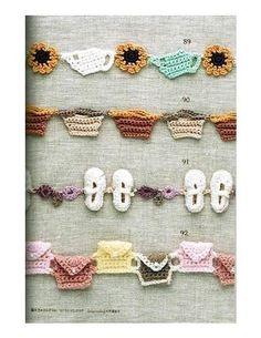 Crochê Afiação e Trançado Bolsa, Sapato...  /     Crochet Edging and Braided Exchange, Shoe ...