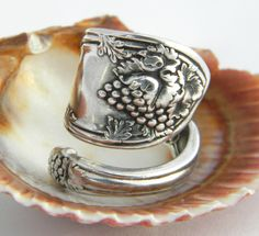 Spoon Ring Antique Silverware Jewelry  La by CaliforniaSpoonRings, $20.50