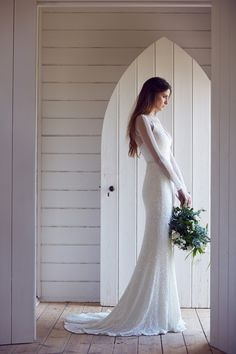 luscious long sleeve wedding dress