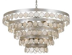 ADELE FOUR TIER WATERFALL CHANDELIER | ab dining room | Pinterest ...