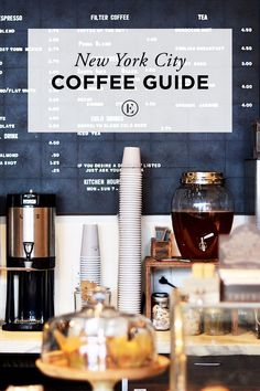 New York City Coffee Guide: Navigating the NYC coffee scene with Toby's Estate Shopping In New York, Manhattan, Coffee Guide, Coffee Ideas, Coffee Icon, A New York Minute, Best Coffee Shop, Coffee Shops, Nyc Coffee Shop