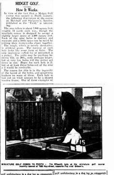 Western Mail (Perth, WA : 1885 - Thursday 23 October page 21 Putt Putt Golf, Dance Marathon, Miniature Golf, Calisthenics, Perth, Thursday, October, Calisthenics Workout, Gymnastics