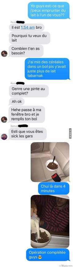 Quand on verse nos céréales et qu'il n'y a plus de lait Funny Facts, Funny Jokes, Lol, Funny Text Messages, Derp, Anime Manga, Memes, More Fun, I Laughed