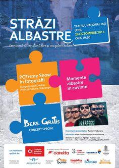 """Evenimentul """"Străzi Albastre"""" la Iași"""