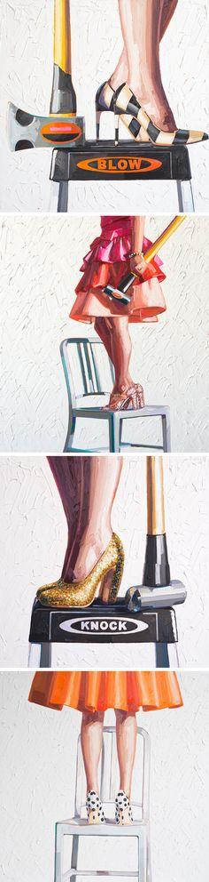 Sledgehammers and High Heels Find a Modern Pairing in Kelly Reemtsen's New Paintings