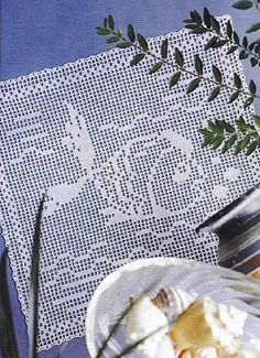 Flip, flip fish crochet filet work with diagram