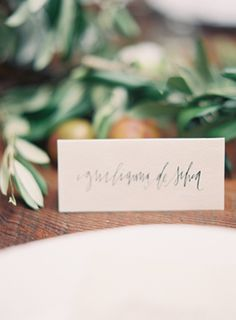 Italy Inspired Rustic Wedding - seating cards