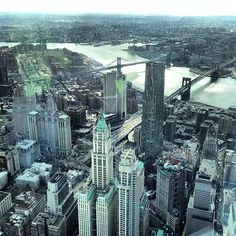 Lower Manhattan from the One World Observatory - One World Trade Center, NYC