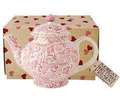 Emma Bridgewater Pink Wallpaper Four Cup Teapot 2014