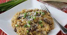 "Porcini & Crimini Mushroom Orzo ""Risotto"" Recipe by CookinCanuck Top Recipes, Greek Recipes, Veggie Recipes, Vegetarian Recipes, Cooking Recipes, Orzo Recipes, Yummy Recipes, Yummy Food, Orzo Risotto"