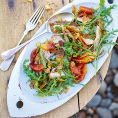 Chicken Confit And Rocket Salad With Blood Oranges | sheerluxe.com