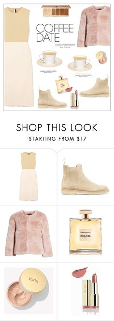 """Buzz-Worthy: Coffee Date"" by alinepinkskirt on Polyvore featuring Joseph, Common Projects, St. John, Chanel, Milani and CoffeeDate"
