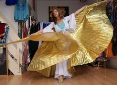 Isiswings effen goud lamé - Wings of Isis gold lamé fabric | Isiswings | buikdanswinkel-webshop