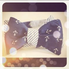 anchors and a bow tie could not be more perfect!
