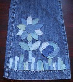 Arte con pedacitos de jean.
