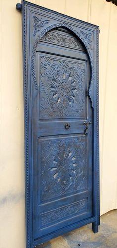 Kitchen Armoire, Moroccan Doors, Cob Houses, Moorish, Wooden Doors, Barn Doors, Architecture Details, Hand Carved, Carving