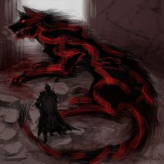Fantasy Wesen, Fantasy Wolf, Dark Fantasy Art, Dark Art, Monster Concept Art, Fantasy Monster, Monster Art, Creature Concept Art, Creature Design