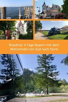 4 Tage Roadtrip durch Bayern mit Wohnmobil: Aus den Alpen an den Ammersee durch Bayerisch Schwaben über die Donau ins Altmühltal und weiter ins Fichtelgebirge. Unser bunter Camping-Roadtrip durch Bayern führt an bezaubernde Altstädte, berühmte Schlösser und Burgen, abenteuerliche Flüsse, einladende Seen und natürlich in die Berge.