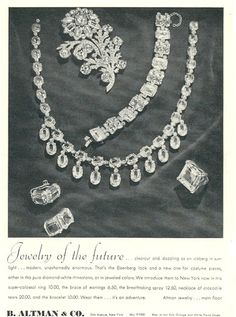 1940 Eisenberg jewelry ad ''Jewelry of the Future''