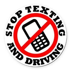 Stop Texting and Driving Round Car Magnet> Stop Texting and Driving> Irregular Liberal Bumper Stickers n Pins Safe Driving Tips, Texting While Driving, Distracted Driving, Driving Safety, Driving School, Driving Test, Road Safety Poster, Drive Poster, Driving Academy