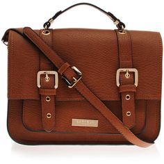 Arizona Satchel Carvela Kurt Geiger Tan ($74) ❤ liked on Polyvore featuring bags, handbags, shoulder bags, accessories, purses, bolsas, tan, brown shoulder bag, satchel bag and brown satchel