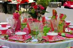 Lilly Party Essentials: bright and colorful party table #PreppyPlanner