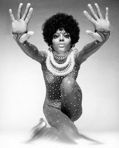 Diana Ross wearing a Creation of Bob Mackie and photographed by Avedon for French Vogue,January 1970.