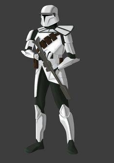 Star Wars Cartoon Network Clone Wars Clone Trooper White Armor