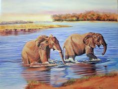 Contemporary Painting - River Crossing (Original Art from Jenny Regan)