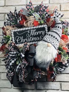 This adorable buffalo plaid christmas gnome wreath will look festive on your christmas This wreath measures inches deep. Christmas Door Wreaths, Christmas Gnome, Plaid Christmas, Christmas Signs, Christmas Deco, Holiday Wreaths, Christmas Crafts, Winter Wreaths, Spring Wreaths