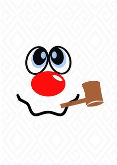Snowman svg snowman t shirt svg christmas svg snowman clip art svg dxf eps ai png jpeg pdf digital files vinyl cutting printing Snowman Faces, Cute Snowman, Snowman Crafts, Christmas Projects, Holiday Crafts, Snowman Wreath, Party Crafts, Halloween Crafts, Halloween Party