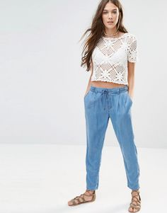 Image 1 of Pimkie Chambray Joggers