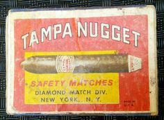 TAMPA NUGGET SAFETY MATCHES DIAMOND MATCH DIV. NEW YORK N.Y.