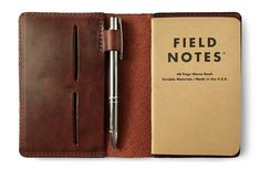 Amazon.com : Full Grain Leather Composition Cover Journal for Field Notes Notebooks (Vintage Brown) : Office Products