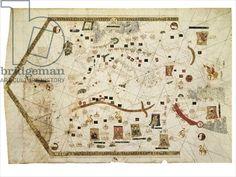 Portolan Chart of Gabriel de Vallseca, 1439 (vellum)