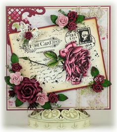 6410/0044 Noor! Design Clear Stamp Postcard Door Bev Rochester