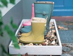 cute wellie storage I spotted over on Damsel in Dior: