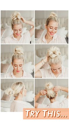 5 Ways To Do a Messy Bun - Twist Me Pretty You need these messy bun tutorials in your life! Check out this post for my top 5 messy bun tutorials that will change how you do your hair. SEE DETAILS. Curly Hair Styles, Medium Hair Styles, Cute Hair Styles Easy, Hairdos For Curly Hair, Bun Styles, Pretty Hairstyles, Braided Hairstyles, Lazy Day Hairstyles, Wedding Hairstyles