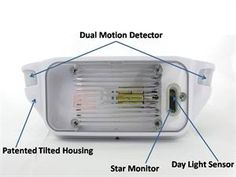 MOTION sensing porch light for the camper! Replaces the porch light. How cool is this?