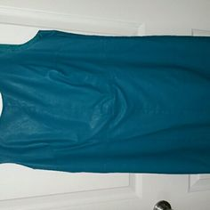 Teal Leather dress Nice leather dress, fully lined Nicole by Nicole Miller Dresses Midi
