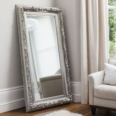 Gallery Direct Antwerp Leaner Mirror - Silver