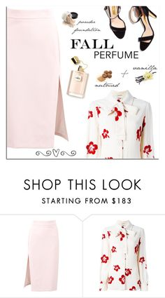 """""""🌸"""" by mari-meri ❤ liked on Polyvore featuring MSGM and Yves Saint Laurent"""