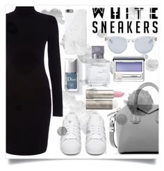 """IN MY WHITES SNEAKERS...."" by creating-outfits ❤ liked on Polyvore featuring Phase Eight, adidas Originals, Givenchy, Sun Buddies, Native Union, Maison Francis Kurkdjian, Ilia and Clinique"