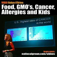 GMOs, cancer, kids, allergies