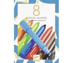 Gel fargestifter, klassiske farger 8 stk - Djeco   Sprell - veldig fine leker og barneromsinteriør