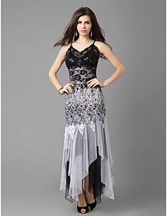 A-line Princess+Spaghetti+Straps+Asymmetrical+Lace+And+ b20d63a47a