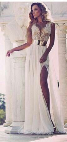 Greek style.... In love with this dress and my man will love it on me. #wedding