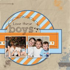 2 photo digital layout created by Jeanna Bohanon with Stampin' Up!'s My Digital Studio (MDS)