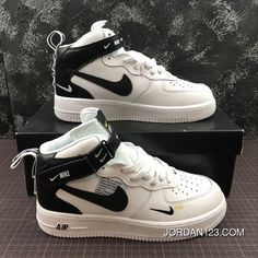 Nike Air Force One Mid Utility Mid Top Casual Sneaker Size Online - Shoes Casual Sneakers, Sneakers Fashion, Sneakers Nike, Nike Fashion, Mens Fashion, White Sneakers, Shoes Online, Fashion Trends, Designer Shoes